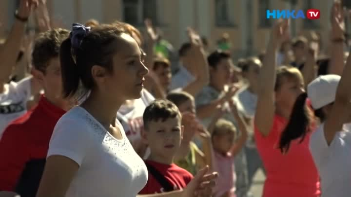 Зарядку разом сделали более 1000 человек: ВКалуге отметили День физкультурника