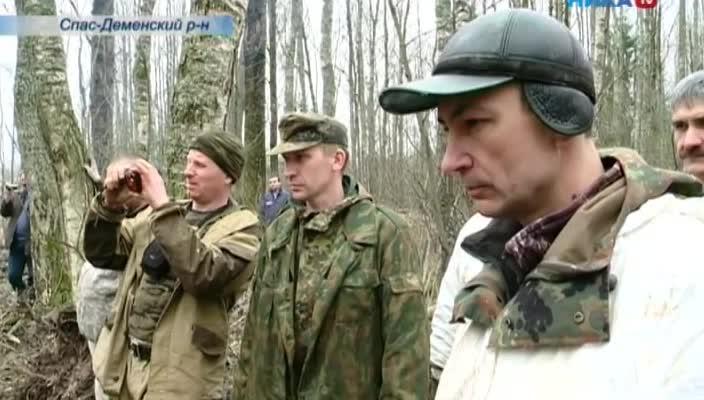 В Спас-Деменском районе поисковики подняли обломки ИЛ-2 и останки членов экипажа