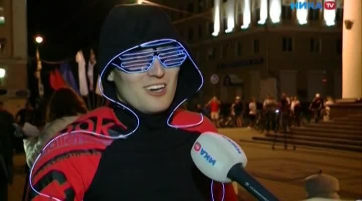 В Калуге состоялся второй в истории города ночной велопробег