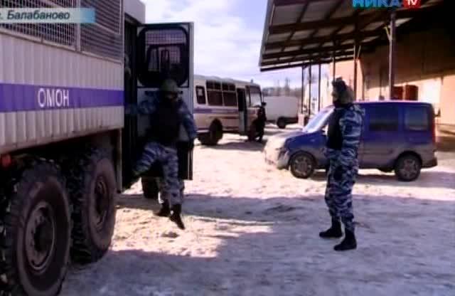 Массовую проверку мигрантов провели полицейские Обнинска при поддержке коллег из областного центра