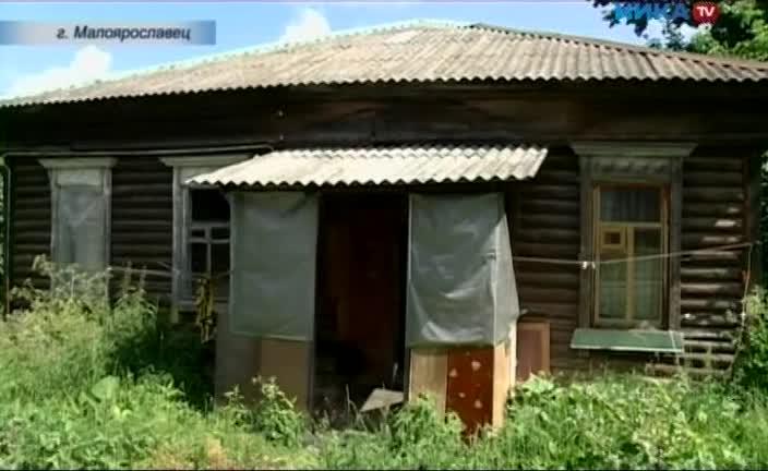 В Малоярославце пенсионерка, инвалид I группы, живет в старом деревянном бараке, в комнате площадью всего 7 квадратных метров
