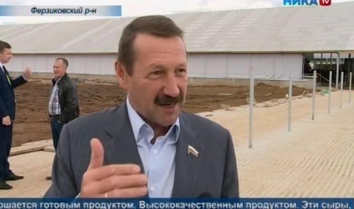 В Ферзиковском районе полным ходом идет строительство нового животноводческого комплекса
