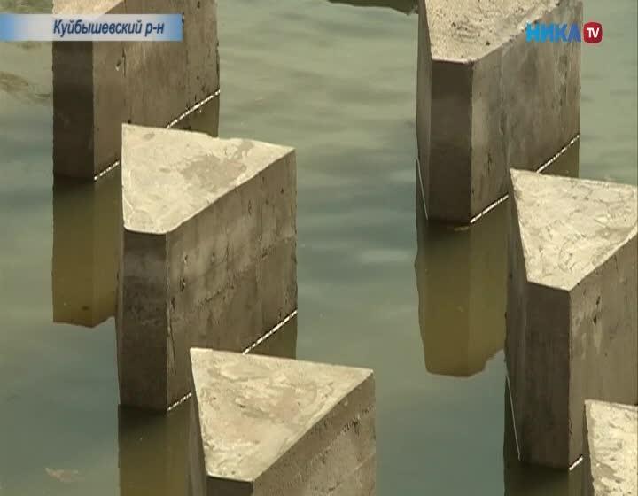 На реке Луженка Куйбышевского района отремонтировали плотину