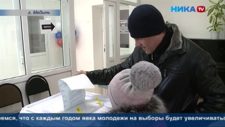 Во многих районах Калужской области избиратели начали приходить к пункту голосования до открытия