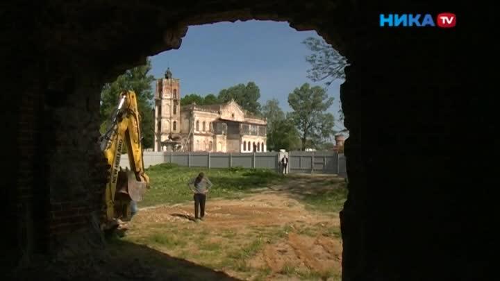 Наруинах храма вАвчурино появились рабочие стехникой