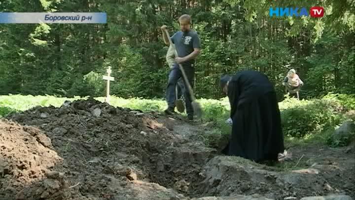 Часовня святого Пафнутия: Репортаж сместа раскопок