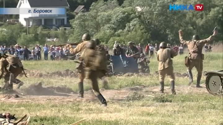 Залп «Катюши»: ВБоровске прошла военно-историческая реконструкция